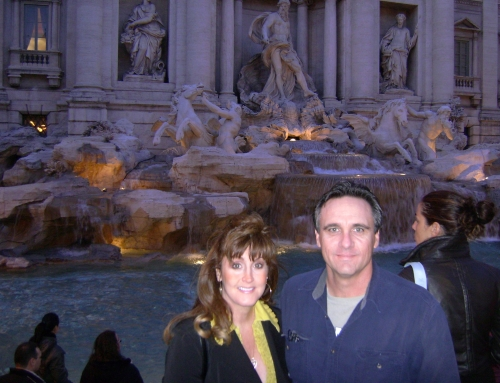 Jim and me at the Trevi Fountain